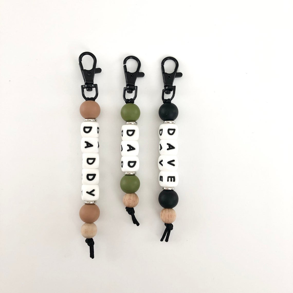 Personalized Luggage Name Tag Keychain with Engraving Beads