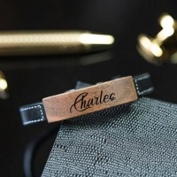 Personalized Leather Bracelet For Hime With Engraving