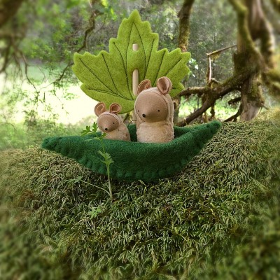 Toy Boat with a Leaf Sail Waldorf Toy Gift For Kids