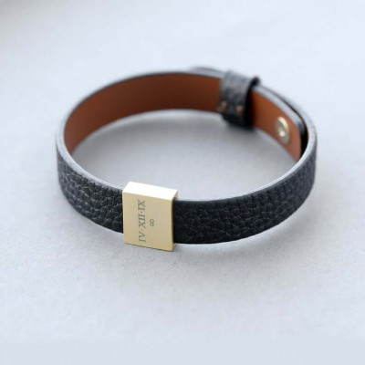 Personalized Leather Bracelet Men Bracelet