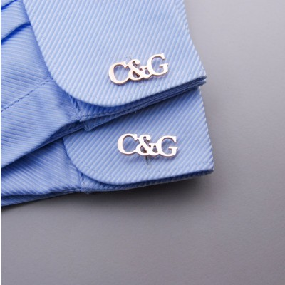 Custom Men's Initial Cufflinks Father's Day Gift