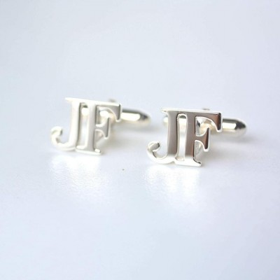 Personalized Letter Cufflinks Gift for Men Father's Day Gift