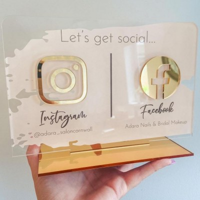Personalized Beauty Sign Instagram Facebook Business Social Media Sign