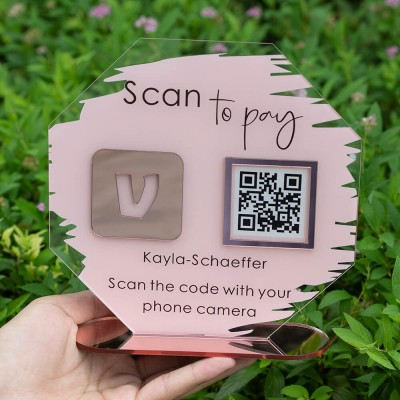 Personalized Octagon Venmo Payment QR Code Sign