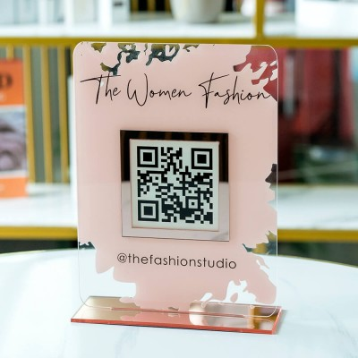 Personalized Business Social Media QR Code Sign