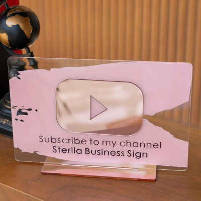 Personalized YouTube Channel Business Social Media Sign