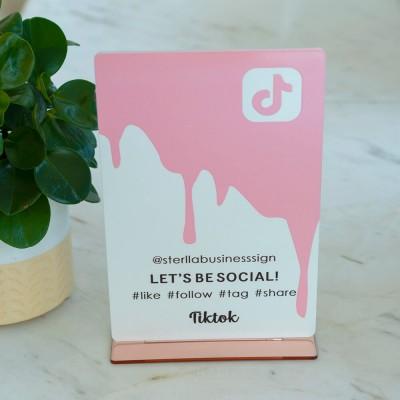 Personalized Drip TikTok and Instagram Social Media Sign