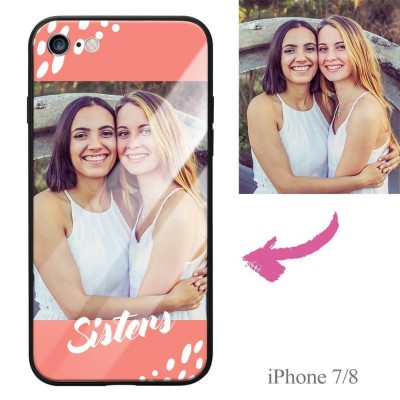 iPhone 7/8 Custom Glass Surface Photo Phone Case