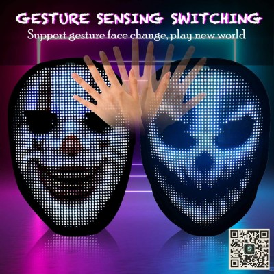 Face Transforming LED Squid Game Mask For Halloween Christmas Costumes Cosplay Party