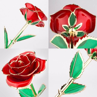 Handcrafted 24K Gold Dipped Rose