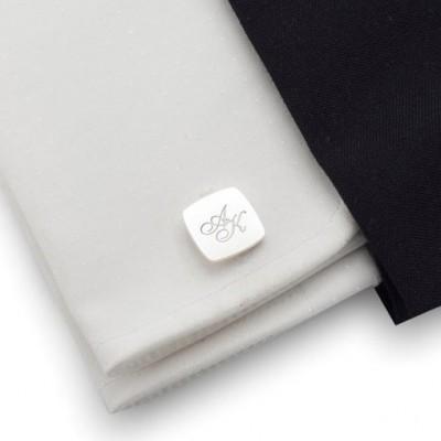 Custom Men's Engraved Initial Cufflinks Gift for Men