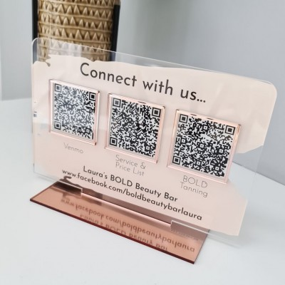 Personalized Multi QR Code Business Social Media Sign