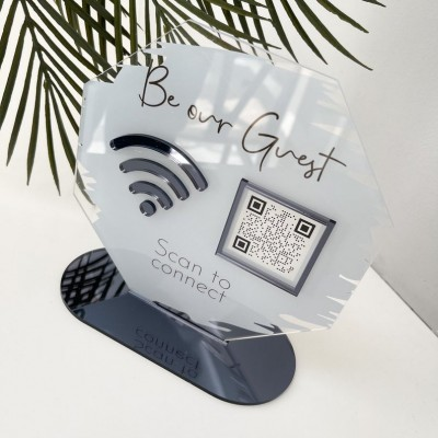 Personalized WiFi QR Code Sign | Salon Sign | Beauty Sign