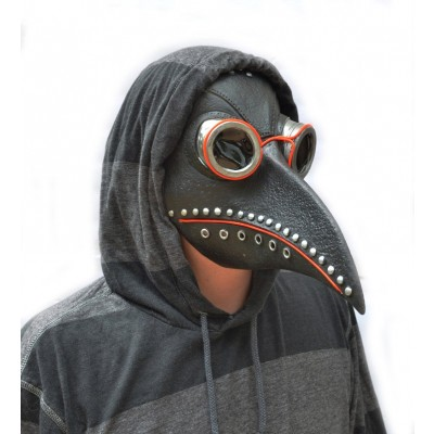 Plague Doctor Halloween Mask EL Wire Light up LED GLOW Dr Bird Crow Mask